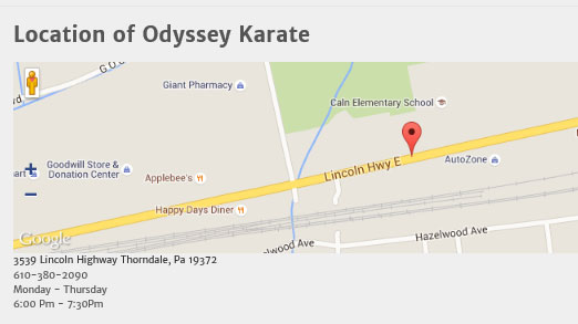 Odyssey Karate is located in Thorndale, PA.